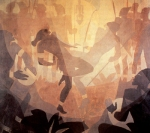 Aaron Douglas' Study for Aspects of Negro Life: The Negro in an African Setting, 1934